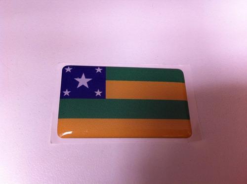 Adesivo Resinado Da Bandeira Do Sergipe  5x3 Cm Original