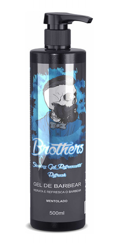 Shaving Gel De Barbear 500ml Brothers Mentolado By Bravus Original