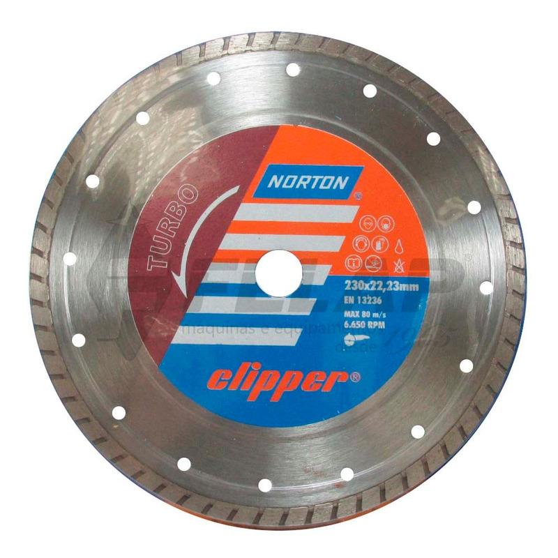 Disco Diamantado Clipper Norton Turbo 230 x 8 x 22,23
