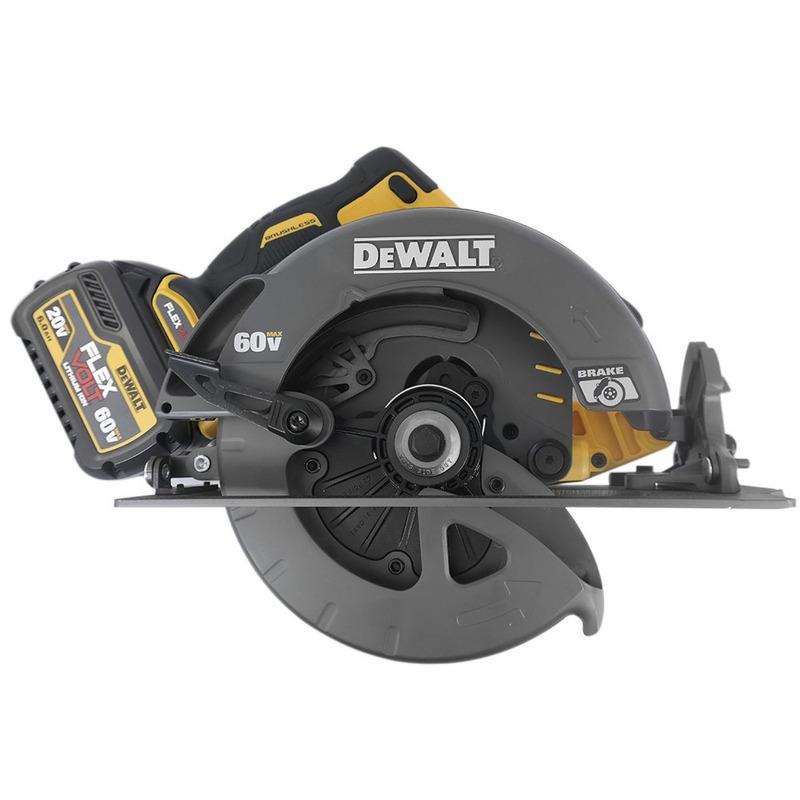 Serra Circular 60V DeWALT FlexVolt com 3 Baterias - DCS575T2