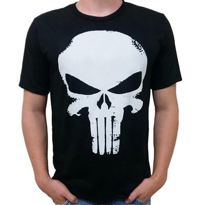 Camiseta Justiceiro De Caveira Marvel em Faxinal