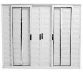 Veneziana De Alumínio  Branco Modular C/g  1.20 X 2.00 Original