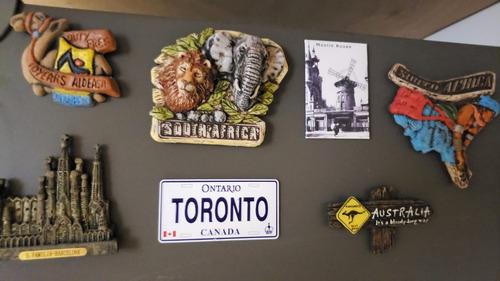 7 Imãs De Geladeira Vários Países: Canadá, França, Austrália