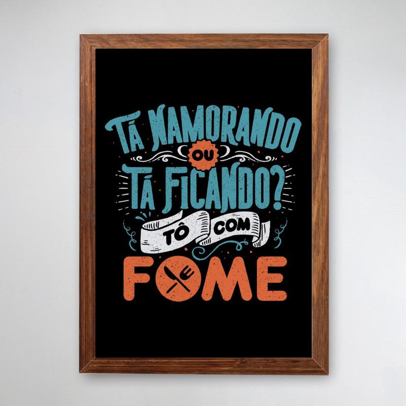 PÔSTER COM MOLDURA - FOME