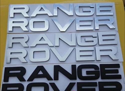Emblema Letreiro Capo/tampa Tras Range Rover Crom/preto/verm