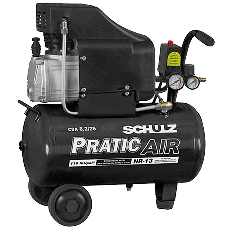 Compressor de Ar CSA8,2/25 Pratic Air - 915.0374 - Schulz