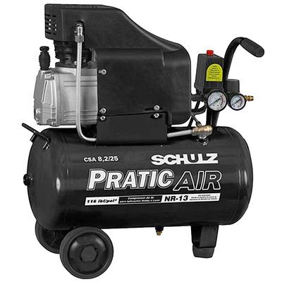 Compressor de Ar CSA8,2/25 Pratic Air - 915.0374 - Schulz