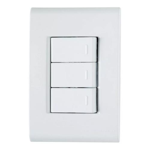 Conjunto Tramontina Liz 3 Interruptores Simples Ou Tomada Original