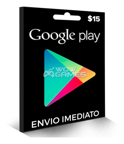 Cartão Google Play Gift Card 15 Dolares Us Android Playstore Original