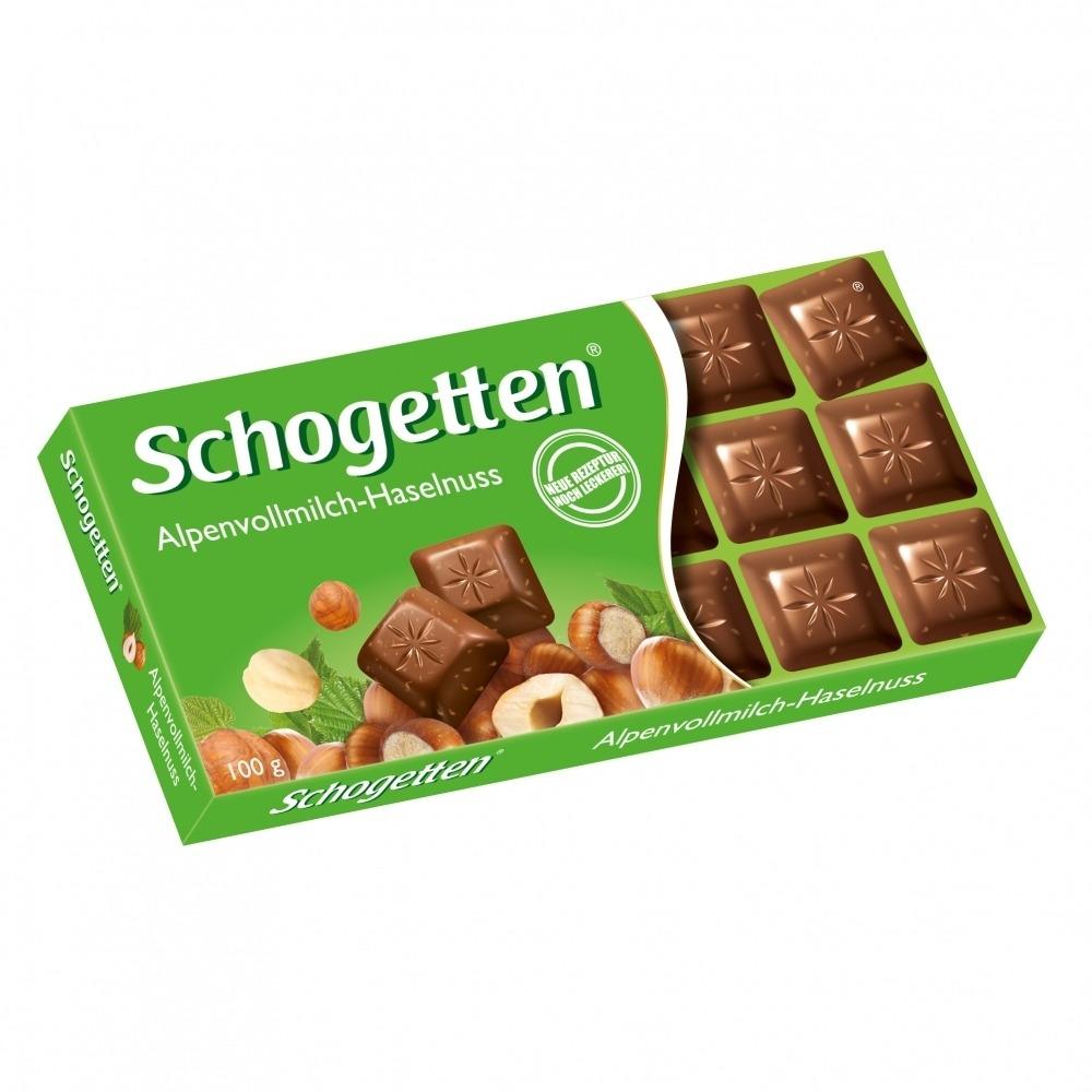 Barra de chocolate  ao leite com Avelãs - Schogetten