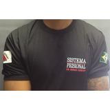 Camisa Preta Sistema Prisional - SEAP  - Preta  Bordada