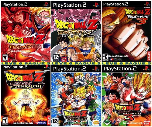6 Jogos Dragon Ball Z Budokai 1 2 3 E Tenkaichi 1 2 3 Ps2 Original