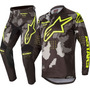 Calça Camisa Kit Alpinestars Racer Tactical 2020 Cinza/amare