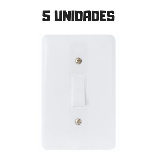 5 Interruptor Residencial Casa Simples Barato Promoção Original