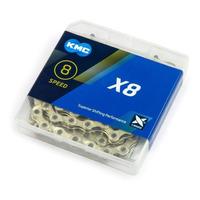 CORRENTE KMC X8 GOLD / DOURADO 116 ELOS - 6V / 7V / 8V