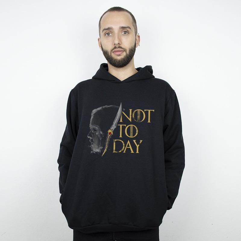 MOLETOM PRETO - NOT TODAY