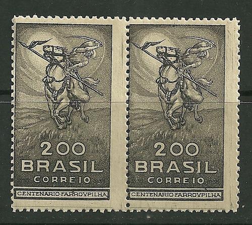 1935 - Centenário Revolução Dos Farrapos - Par - Rhm C91 Original