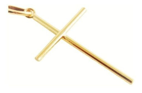 Pingente Masculino Cruz Crucifixo Palito Folheado Ouro 18k Original