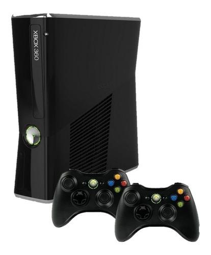Xbox 360 Slim Ou Super Slim 4gb 2 Controles Seminovo Original