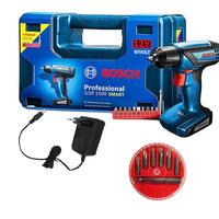 Kit - Parafusadeira e Furadeira á Bateria 12v + Maleta + Jogo de 7 Bits + Adaptador Magnético de Aço - 113929