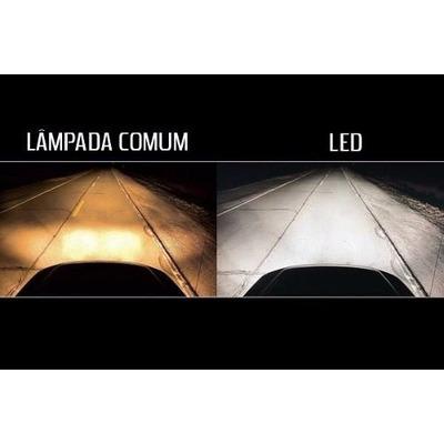 Kit super led h7 3000 lumens 6000k 12v reator interno for Lampada led interno