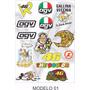 Cartela Adesivo Moto Gp Motocross Capacete Compre 2 E Leve 3