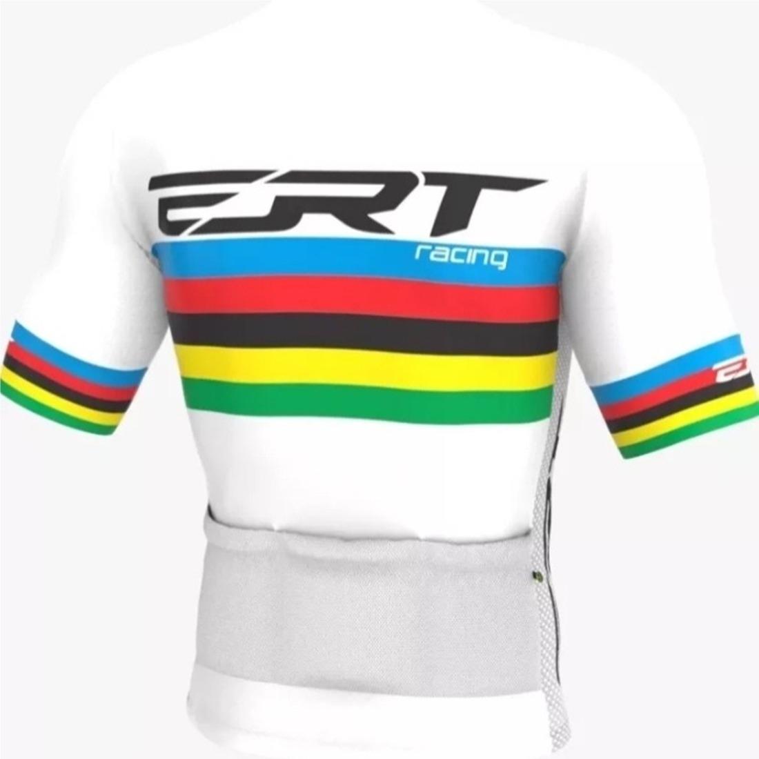 Camisa Ciclismo Mtb Ert Elite Campeão Mundial Branco