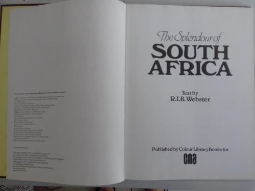 The Splendour Of South Africa - Livro Original