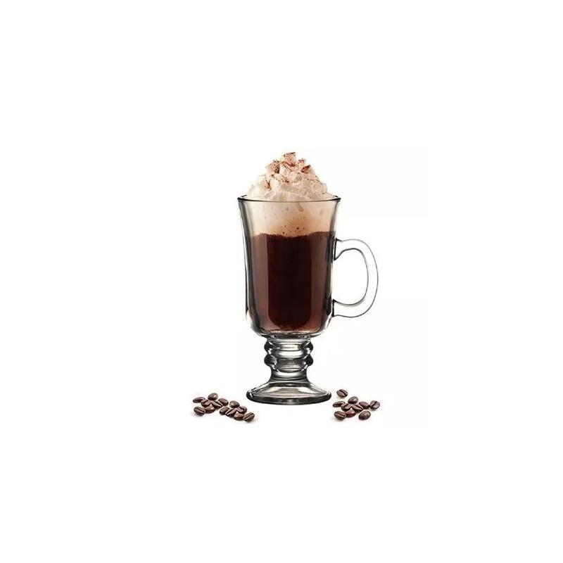 Jogo 6 Taças para Cappuccino  De Vidro 114Ml - Lyor 4106629