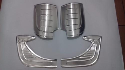 Kit 4 Polainas P/ Fusca De Aluminio Original