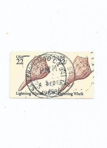 Selo Estados Unidos,par/vida Marinha,22c 1985,usado. Descr. Original