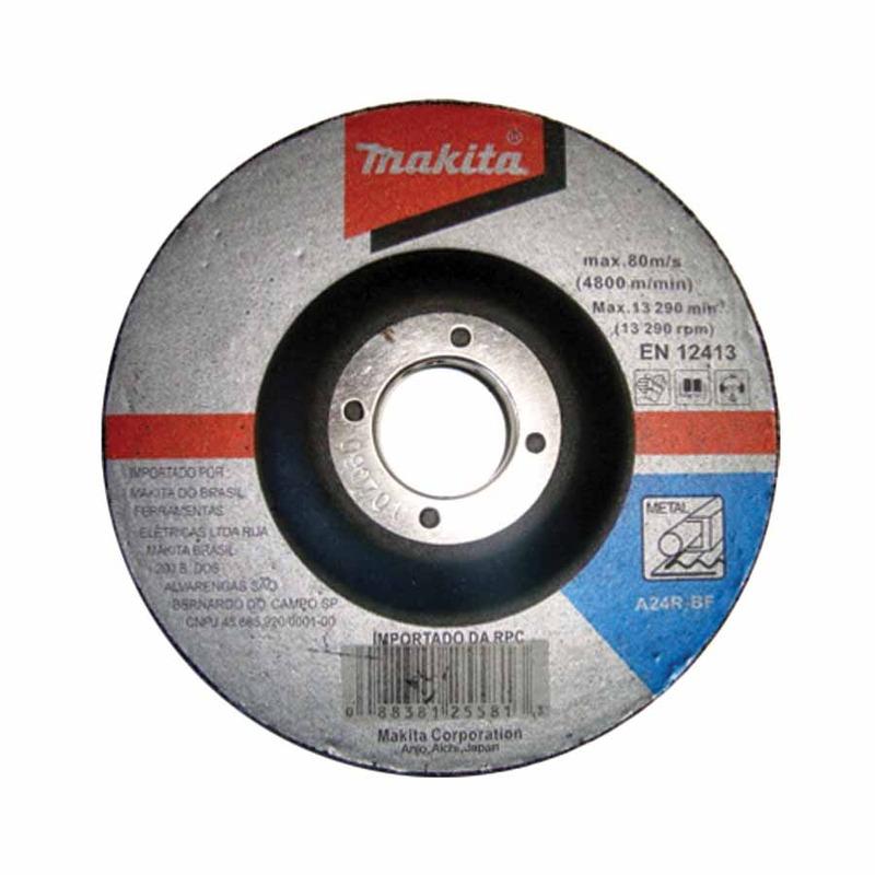 Kit Esmerilhadeira Angular 180mm GA7020 + Disco de Corte Desbaste Abrasivo D-19853-5 - Makita