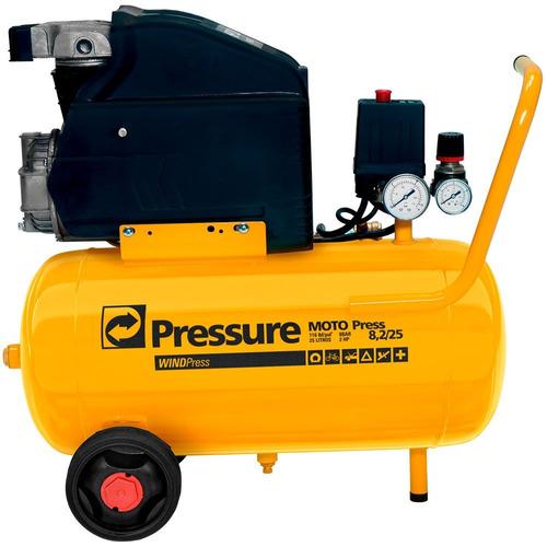 Motocompressor De Ar 8,2 / 24 Litros-pressure-wp8225l
