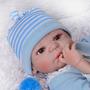 Promoção Bebê Reborn Menino Realista Corpo Silicone 12x M17