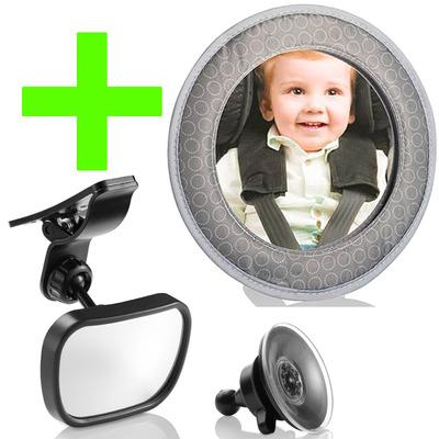 Kit Espelho Retrovisor Para Bebe Crian As Traseiro