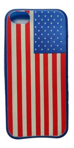 Case Capinha Bandeira Estados Unidos Americana iPhone 5 E 5s Original