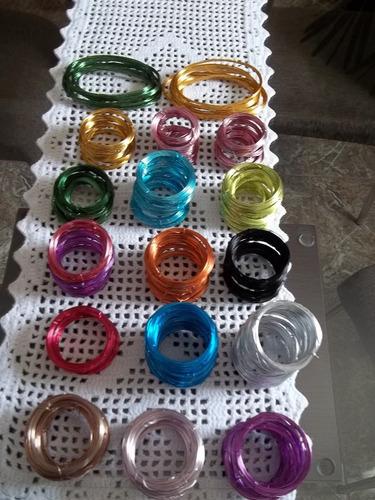Aparador Vidro Preto ~ Arame Aluminio Colorido 4 Rolinhos 5mts Cada frete Grátis