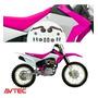 Kit Plasticos Carenagem Crf 230 2015/2018 Avtec Com Adesivo