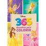 Livro Para Colorir 365 Desenhos Princesas Disney Novidade