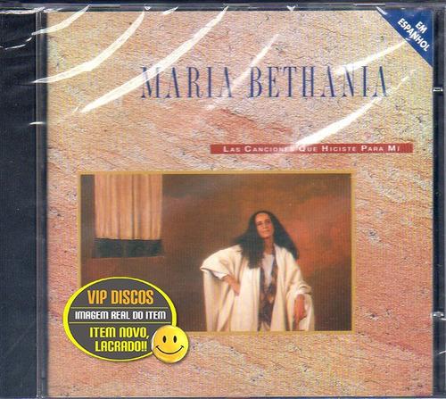 Cd Maria Bethania As Canções Que Você Fez Pra Mim Espanhol Original
