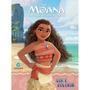 Livro Moana Disney Ler E Colorir Com Giz De Cera Cultura
