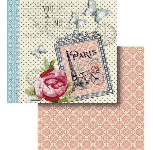 Papel Scrapbook Litocart 30,5x30,5 Lscd-424 Paris E Estampar Original