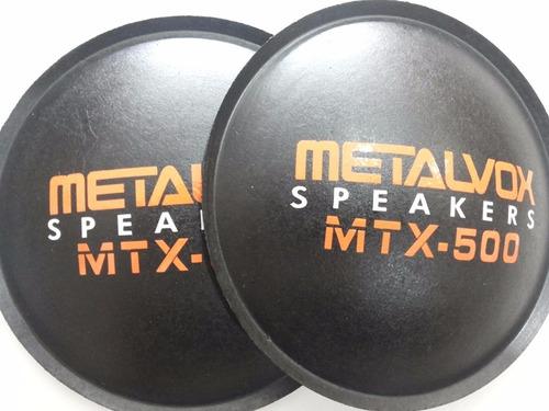 2 - Calota Protetor Para Alto Falante Metalvox Mtx-500 135mm Original