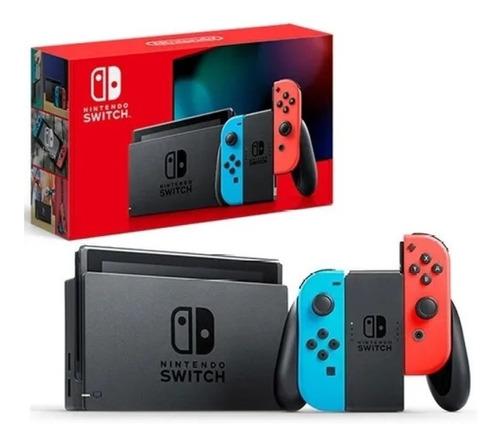 Console Nintendo Switch 32gb Azul Vermelho Néon Nova Versão Original