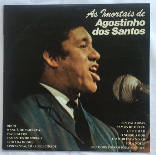 Disco/lp Agostinho Dos Santos-amor Está No Ar-1977-imortais Original