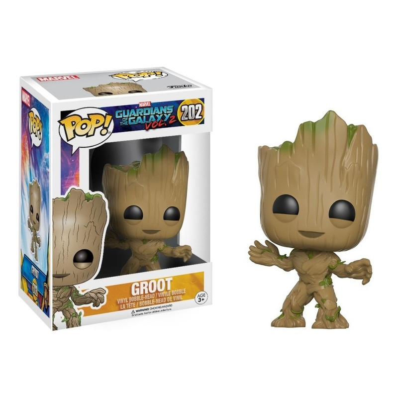 Groot Pop Funko #202 - Guardiões das Galáxias Vol 2 - Marvel