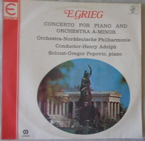Lp Edvard Grieg 1982 Concerto For Piano & Orchestra A Minor Original
