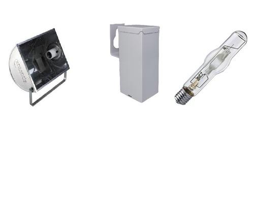 Kit C/2 Refletor Lampada E Reator Hqi Vap Metalica 400w Original