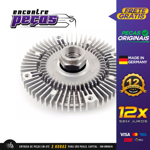 Polia Viscosa Radiador 4 Furos Bmw 328i 2.8 Sedan 1996-1997 Original