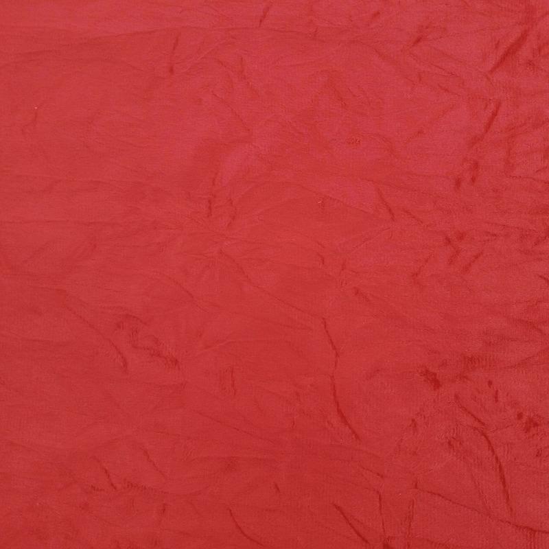 Tecido suede amassado vermelho Larg. 1,40 m